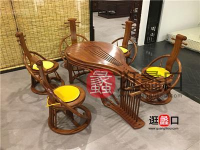 王氏红木家具中式古典餐厅实木餐桌椅
