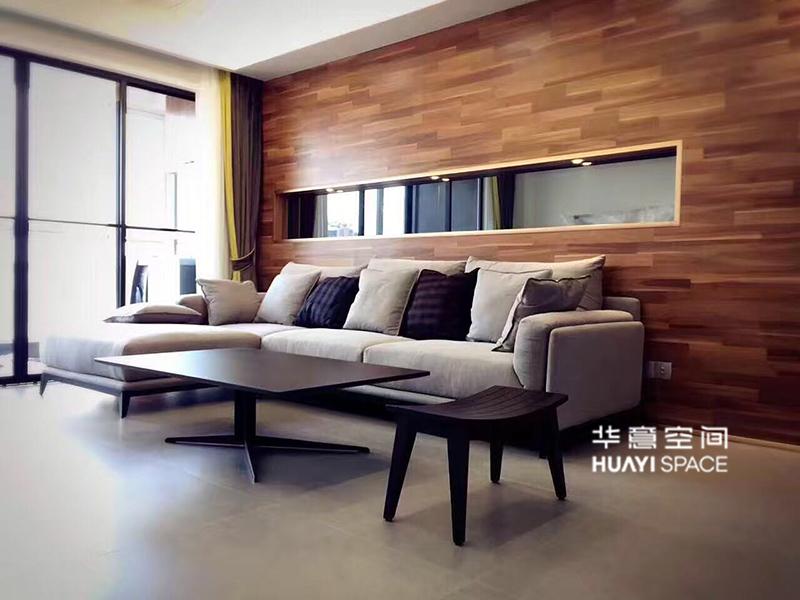 敏悦坊·华意空间现代简约客厅布艺灰色软体利发国际组合/茶几