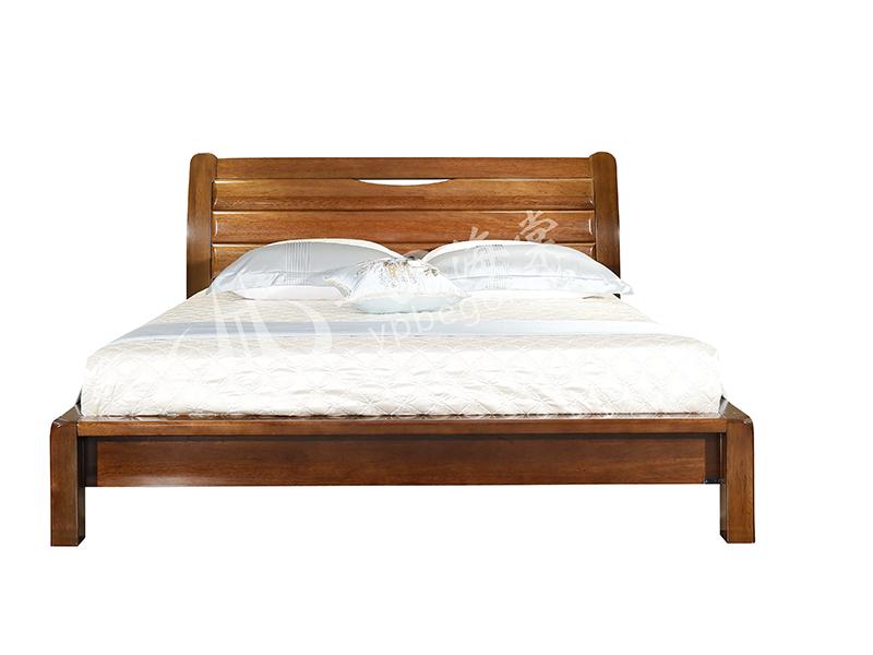 君诺家居·一品海棠家具 品质款现代中式卧室海棠木实木双人床