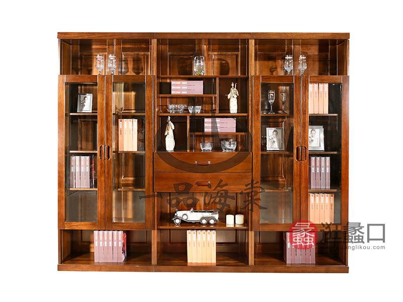 君诺家居·一品海棠家具现代中式书房实木海棠木书柜