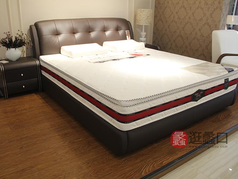 爱尔百兰软床家居现代简约卧室双人皮艺软床/床垫/床头柜