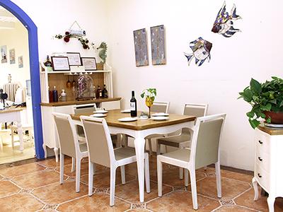 纯美加勒比地中海白腊木纹理餐台/餐桌