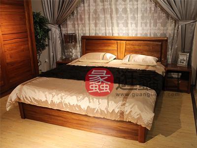 亨德利家居中式古典卧室实木床