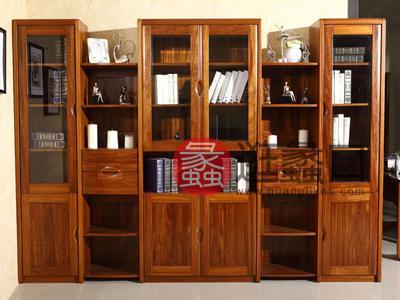 亨德利家居中式古典客厅六门书柜