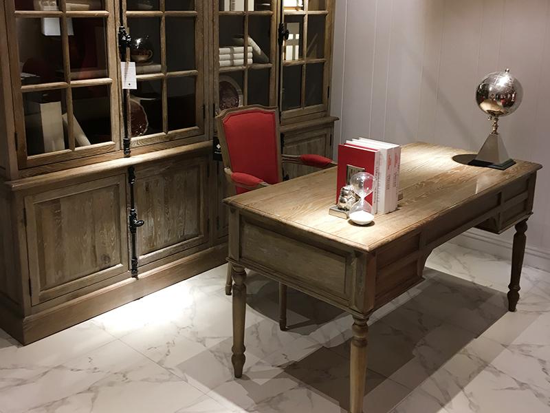 法木北欧白橡木书柜书桌椅