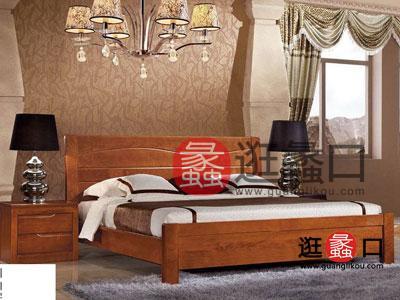 广州瑞丰sbf胜博发简约现代卧室床胡桃木色卧室sbf胜博发