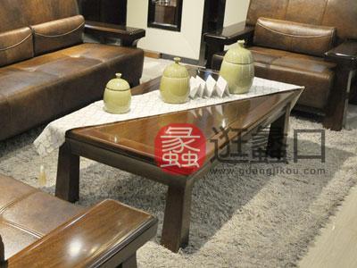 一品海棠简约现代客厅茶边几中式简约海棠木茶几