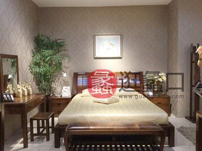 一品海棠 新中式热销款卧室海棠木实木双人大床