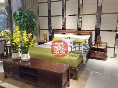 一品海棠 简约现代卧室海棠木实木双人大床