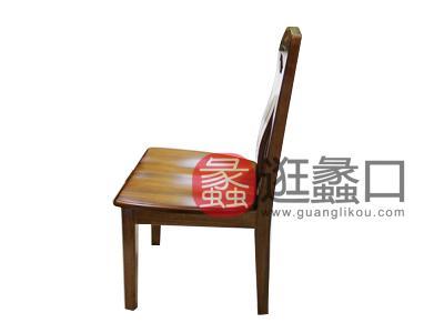 木语森林中式古典餐厅榆木09餐椅