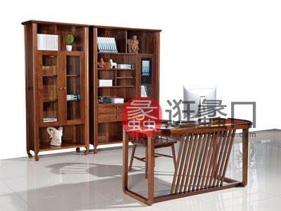木杩家具北欧风格书房书桌椅纯实木书房套房家具