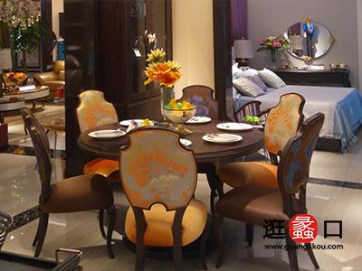 莱偲桃家具美式餐厅餐桌椅