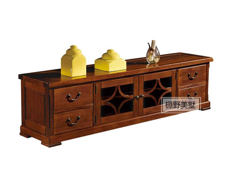 榞野美墅家具 美式客厅金丝木纯实木803电视机柜
