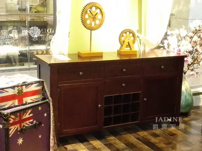 90空间家具·爵典家居 美式品质款客厅实木置物架