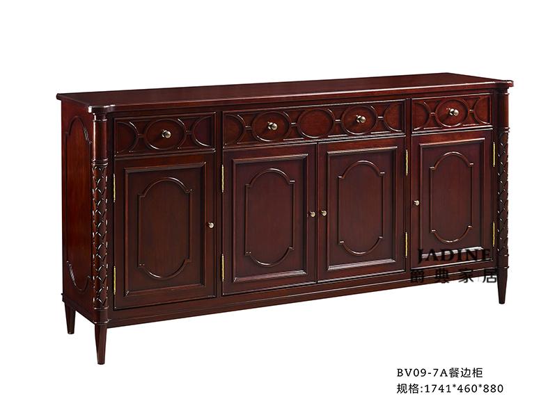 优胜美地V5·爵典家居 美式餐厅深色实木餐边柜BV09-7A