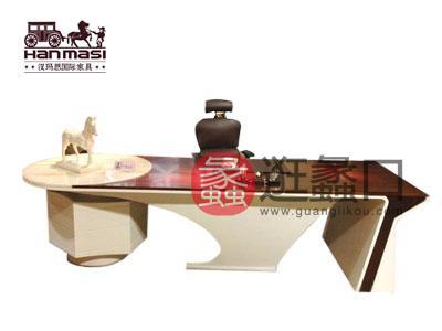 可定制汉玛思白雪公主系列简约现代实木大班台办公桌简约现代书房书桌椅