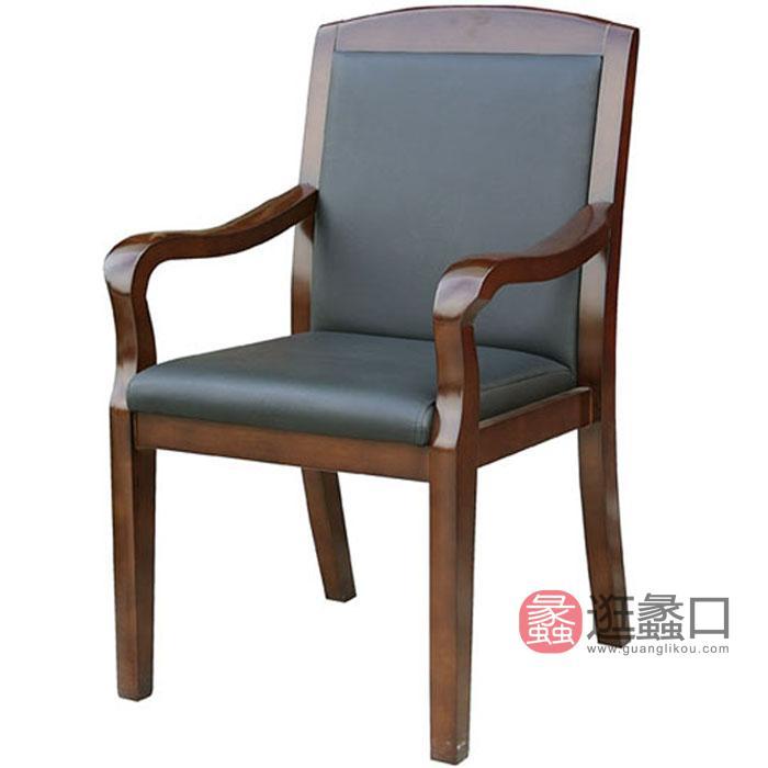 新思维会客椅子 实木会议椅 接待椅 洽谈椅 油漆 优质木椅办公办公办公椅