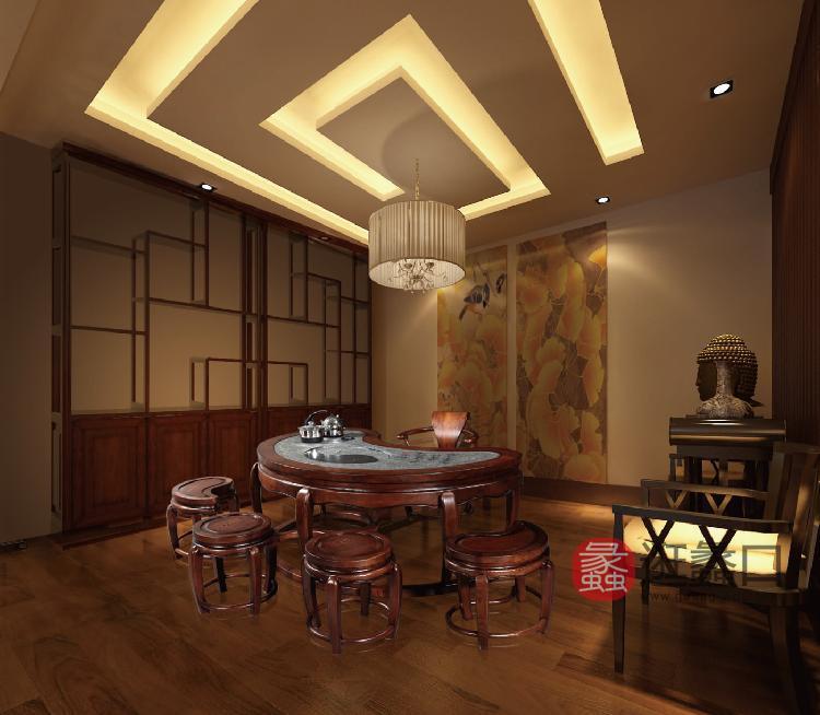 汉玛思太极茶几系列纯实木办公家具总裁办公家具