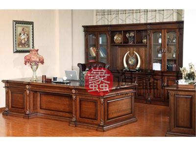 定制 【价格面议】可定制汉玛思 金典系列 实木总裁桌实木大班台办公桌欧式书房书桌椅