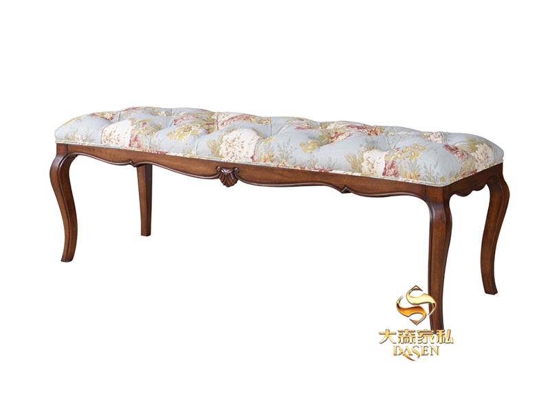 大森家私家具欧式宝柏D09-CH卧室德国红榉木实木床 床头柜 床尾凳