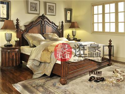达人家居卧室传统美式凯撒-2050系列东方双人床