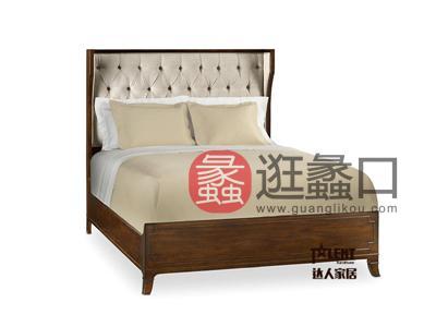 达人家居美式卧室经典美式903实木双人大床