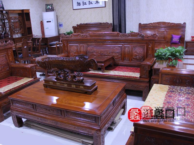 继红红木家具红木客厅沙发组合套件/茶几