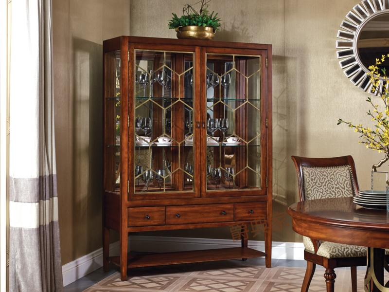优胜美地·爵典家居美式餐厅桃花芯木实木餐边柜