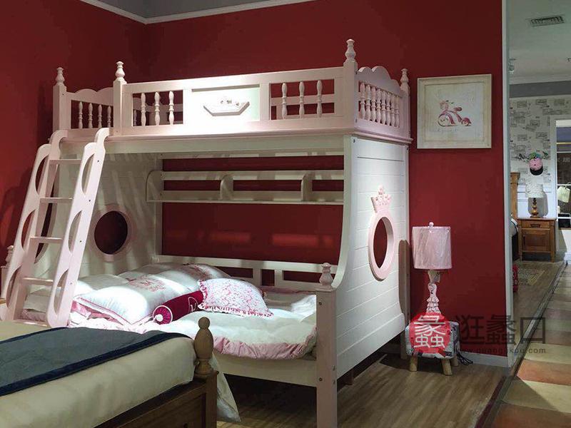 克莉丝汀家具美式卧室实木儿童床/床头柜