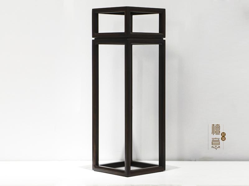 【意利达·檀意家具】新中式客厅黑檀木实木HT9901-29A 高花架