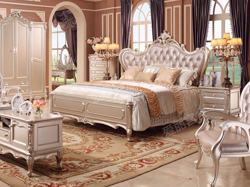 爱丽舍宫家具·爵典家居 欧式卧室实木双人大床