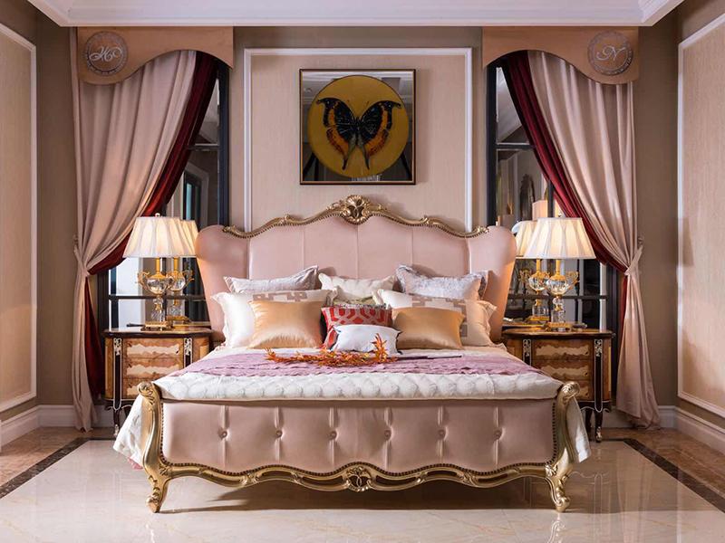 迷妮特家具轻奢卧室实木雕花软?#20811;?#20154;床/?#39184;?#26588;/婚床