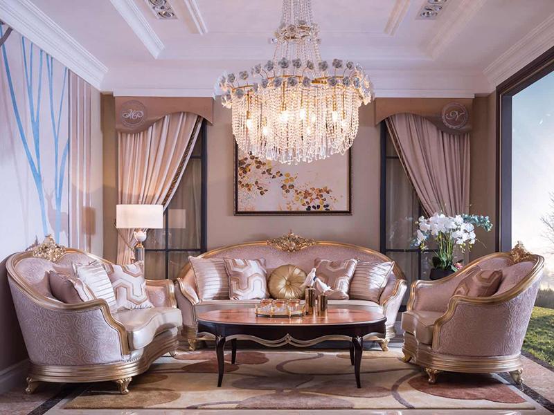 迷妮特家具轻奢客厅布艺实木双人位/单人位/三人位沙发组合/茶几