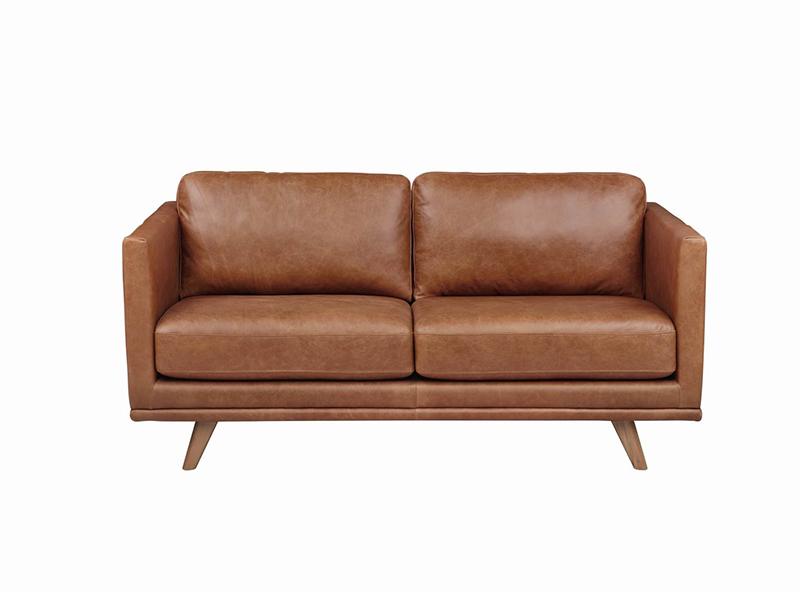 澳凡·璞家具现代简约客厅南美胡桃纯实木皮艺软包双人位/三人位/单人位沙发/电视柜