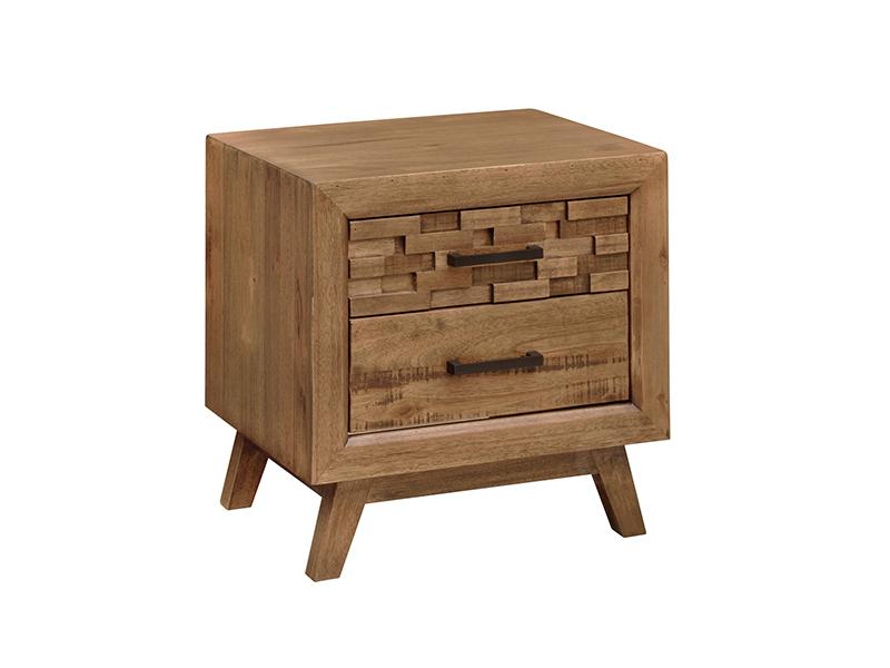 澳凡·璞家具 现代简约卧室南美胡桃纯实木双人床/床头柜