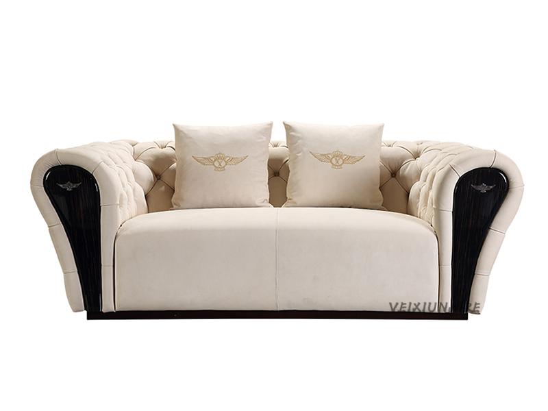VEIXIUNAIRE微秀娜 意大利风格轻奢客厅双人位沙发1229-2双位沙发