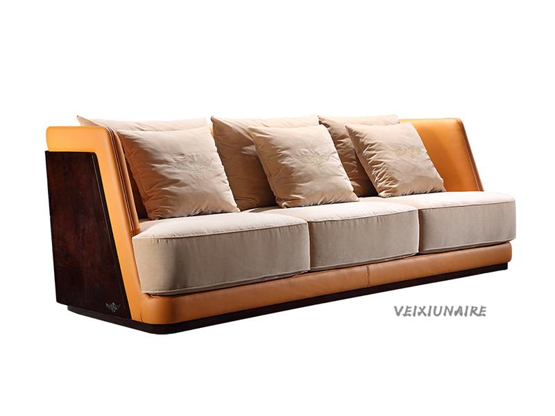 VEIXIUNAIRE微秀娜家具 意大利风格轻奢客厅皮艺双人位沙发1231-3