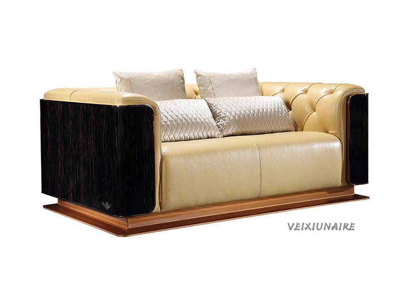 VEIXIUNAIRE微秀娜家具 意大利风格轻奢客厅双人位皮沙发1238-2