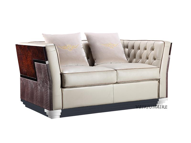 VEIXIUNAIRE微秀娜家具 意大利风格轻奢客厅双人位沙发1825-2