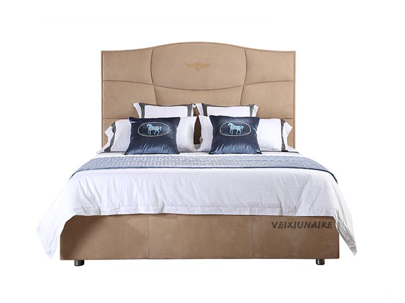 VEIXIUNAIRE微秀娜家具 意大利风格轻奢极简 卧室皮艺双人床/婚床1830
