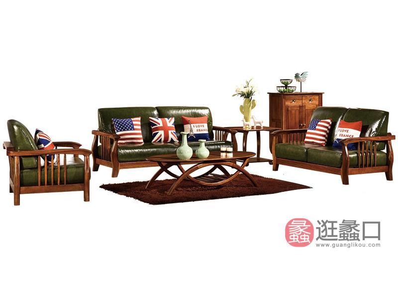 木杩家具北欧风格客厅沙发纯实木客厅双人位/单人位/三人位沙发组合
