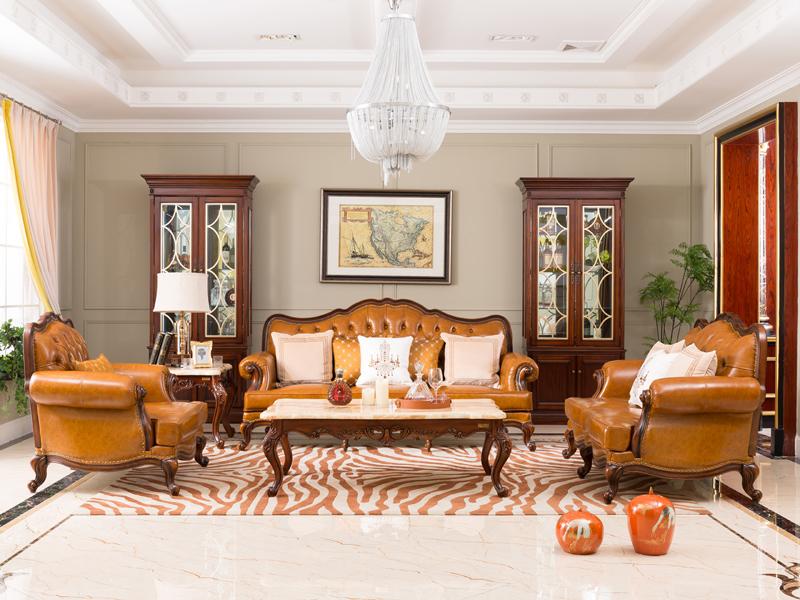 达西美家 沙发+茶几美式客厅沙发