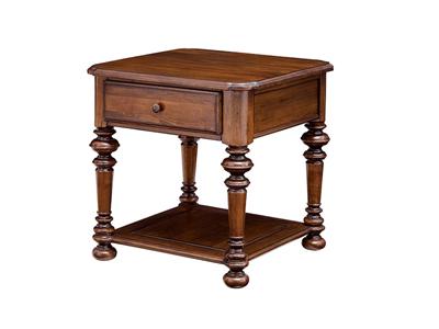 润达名-北卡罗家具美式新古典卧室实木床头柜