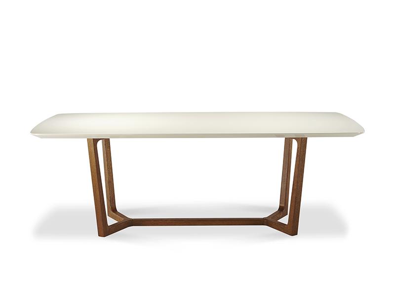 莫多家具现代极简餐厅白色实木烤漆面餐桌/家用餐桌