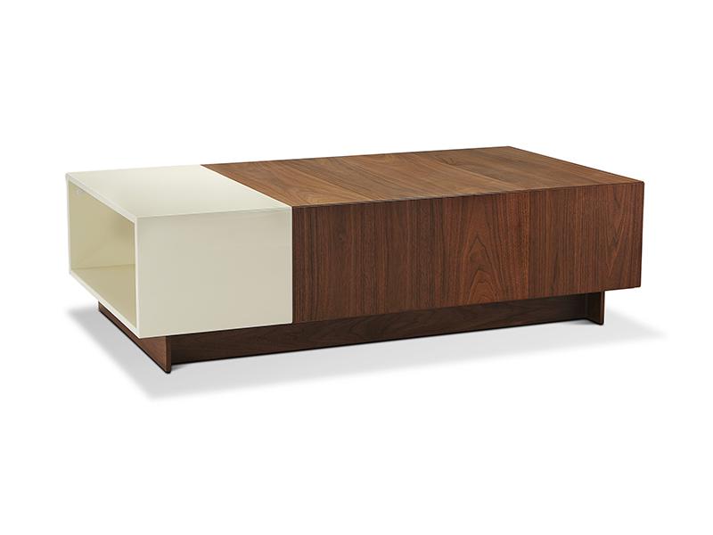 莫多家具现代极简客厅实木烤漆面茶边几