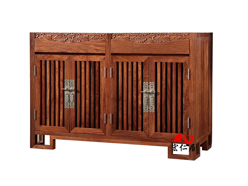宏仁居中式古典红木餐边柜