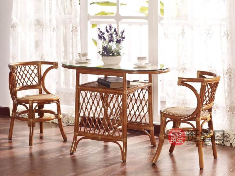 翡翠藤器家具欧式阳台户外桌椅美轩早餐台