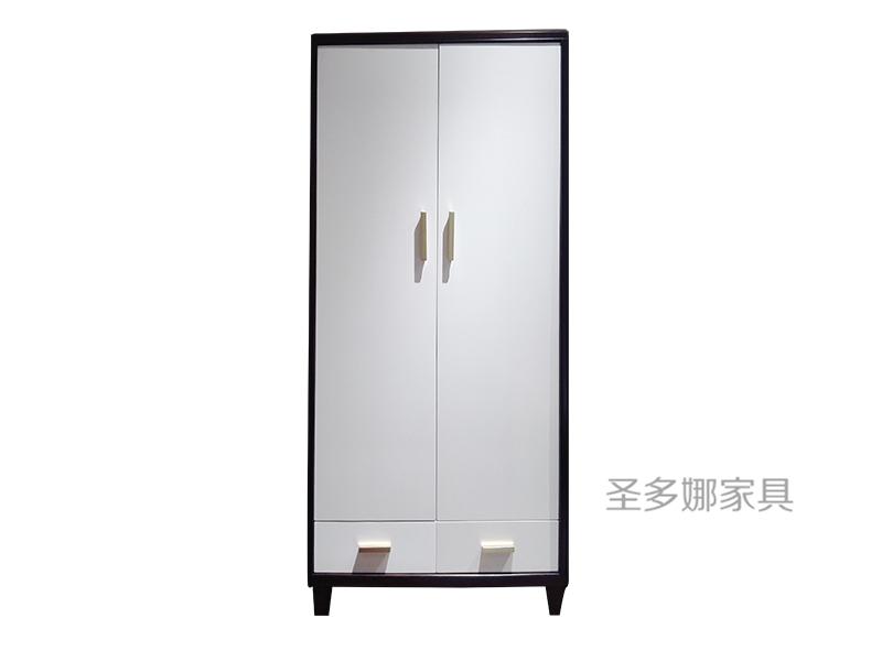 圣多娜·轻奢家具美式卧室桃花心木实木双门衣柜