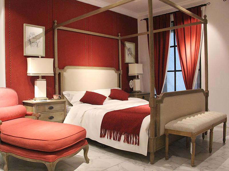 FAMU HOME法木家具北欧 卧室北美白橡木实木双人床/婚床/床头柜/床尾凳/腾椅B702