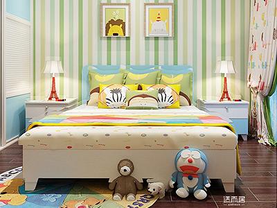松道柏木家具 浪漫本色儿童房套装 书桌和飘窗柜趟门到顶衣柜定制